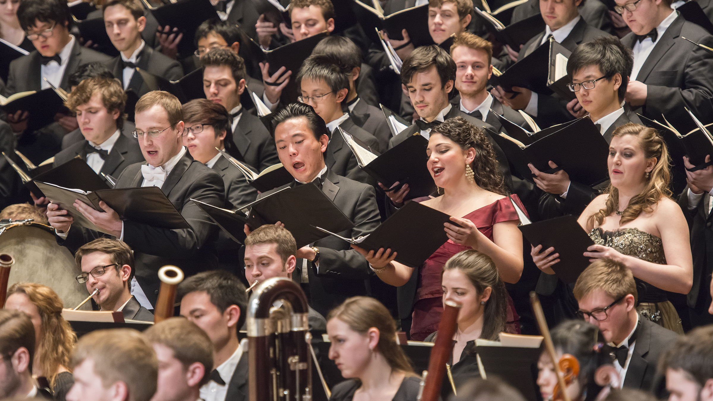 Soloists, chorus and orchestra perform Beethoven's Ninth