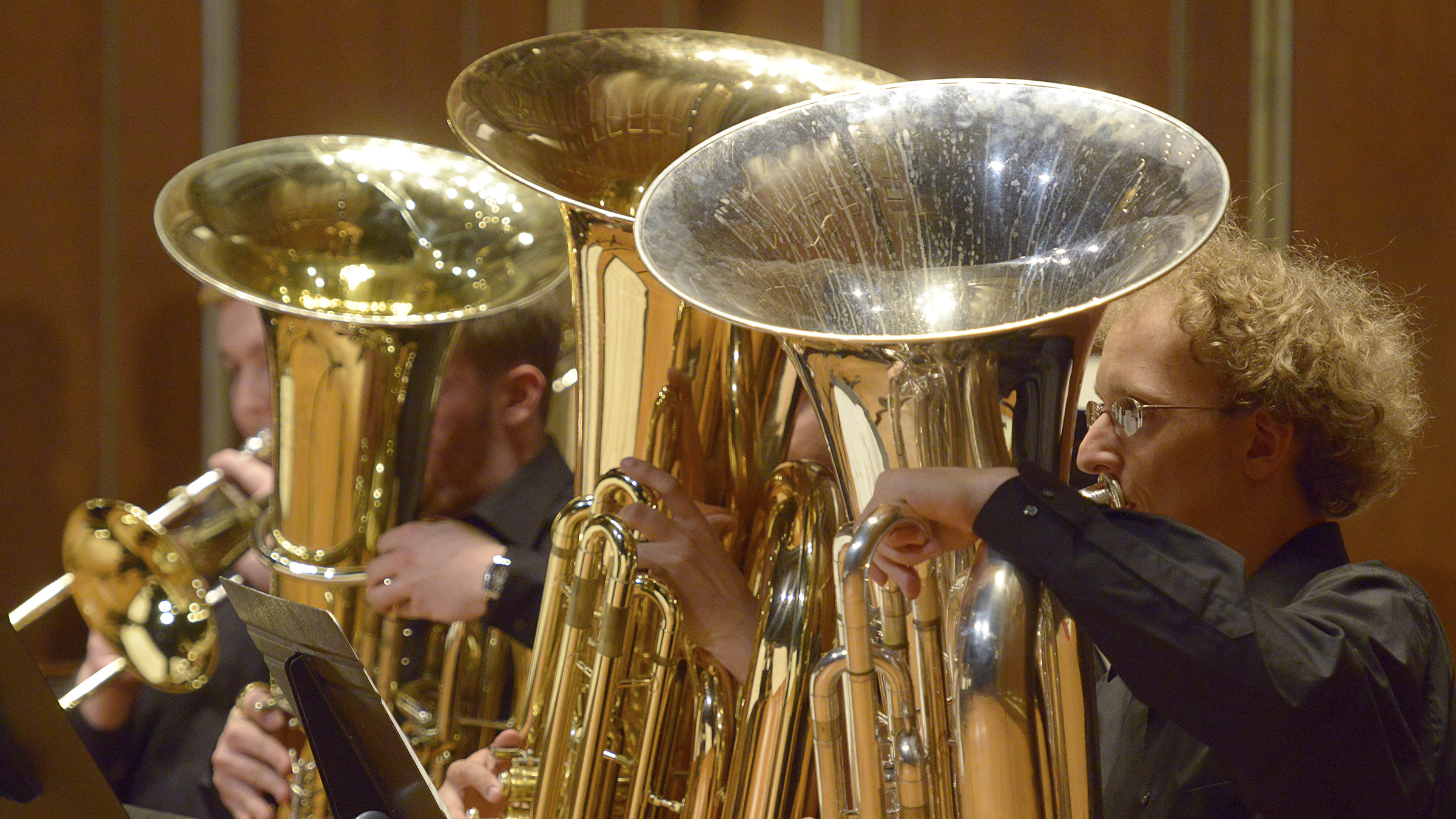 Tubas in performance