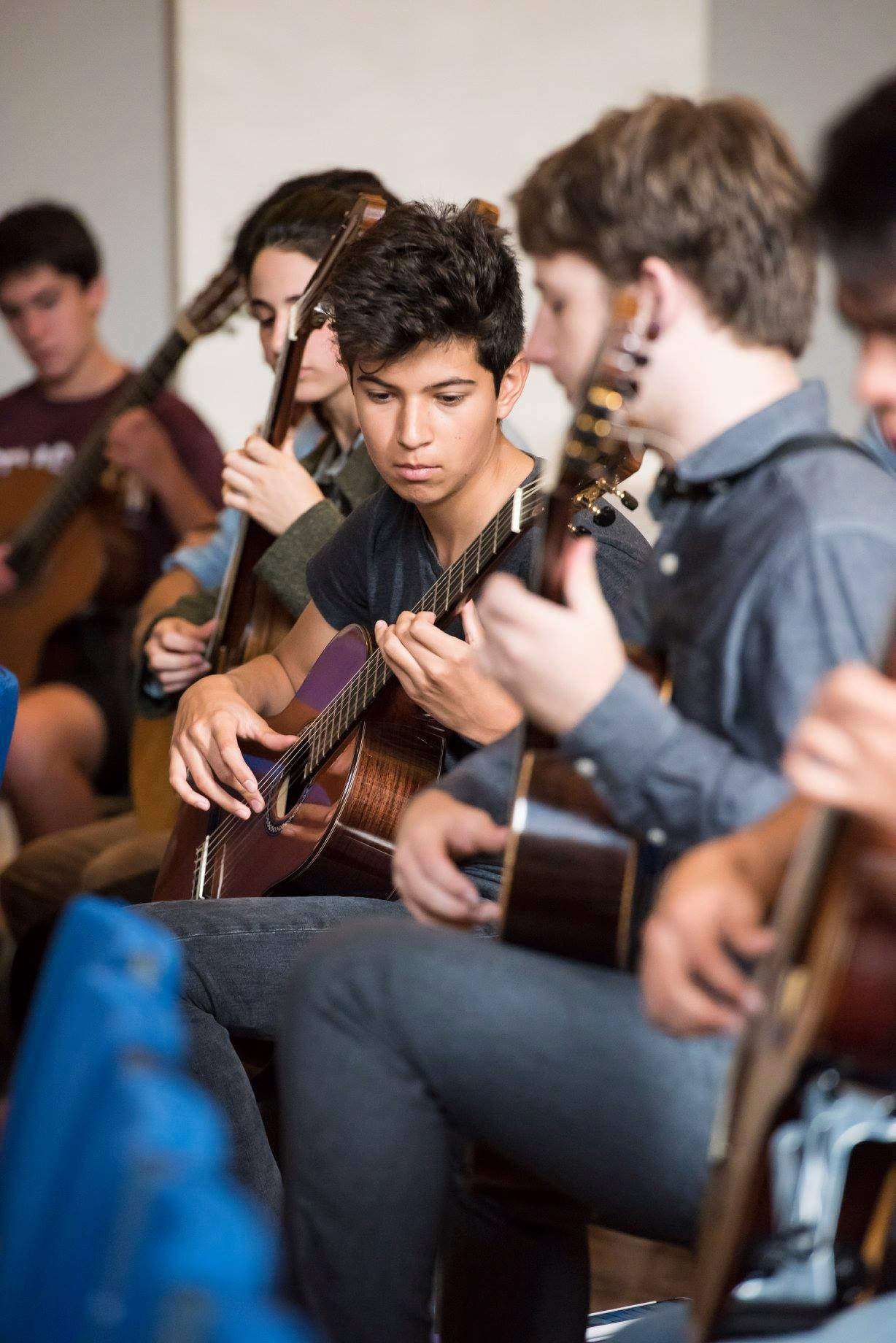 GuitarFest students playing