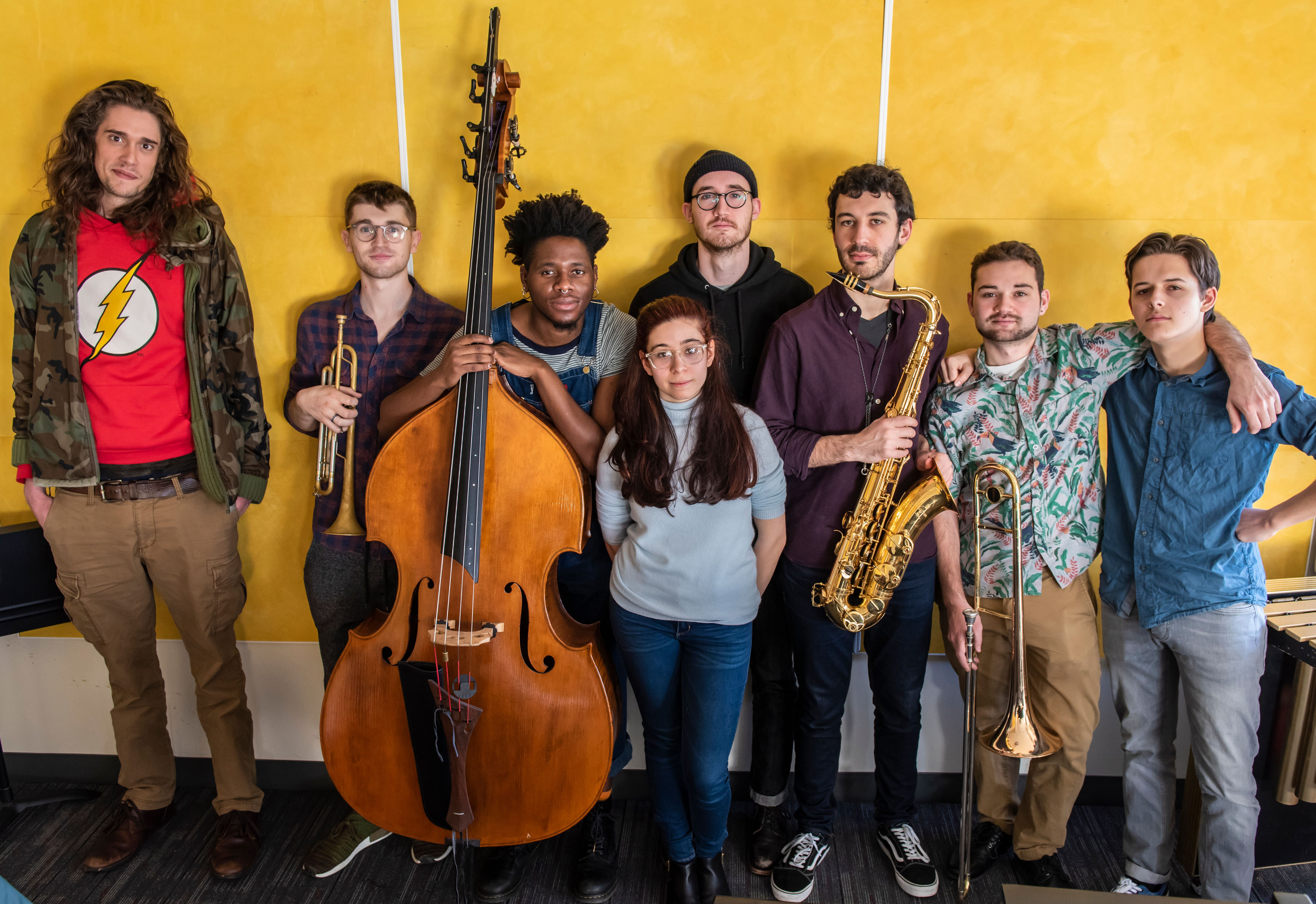 Students in Jason Moran's Slugs Ensemble