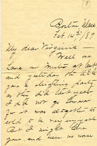 Photograph of a letter penned by Maud Brooks