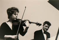 Image of NEC Alumna Dorothy Bales playing violin