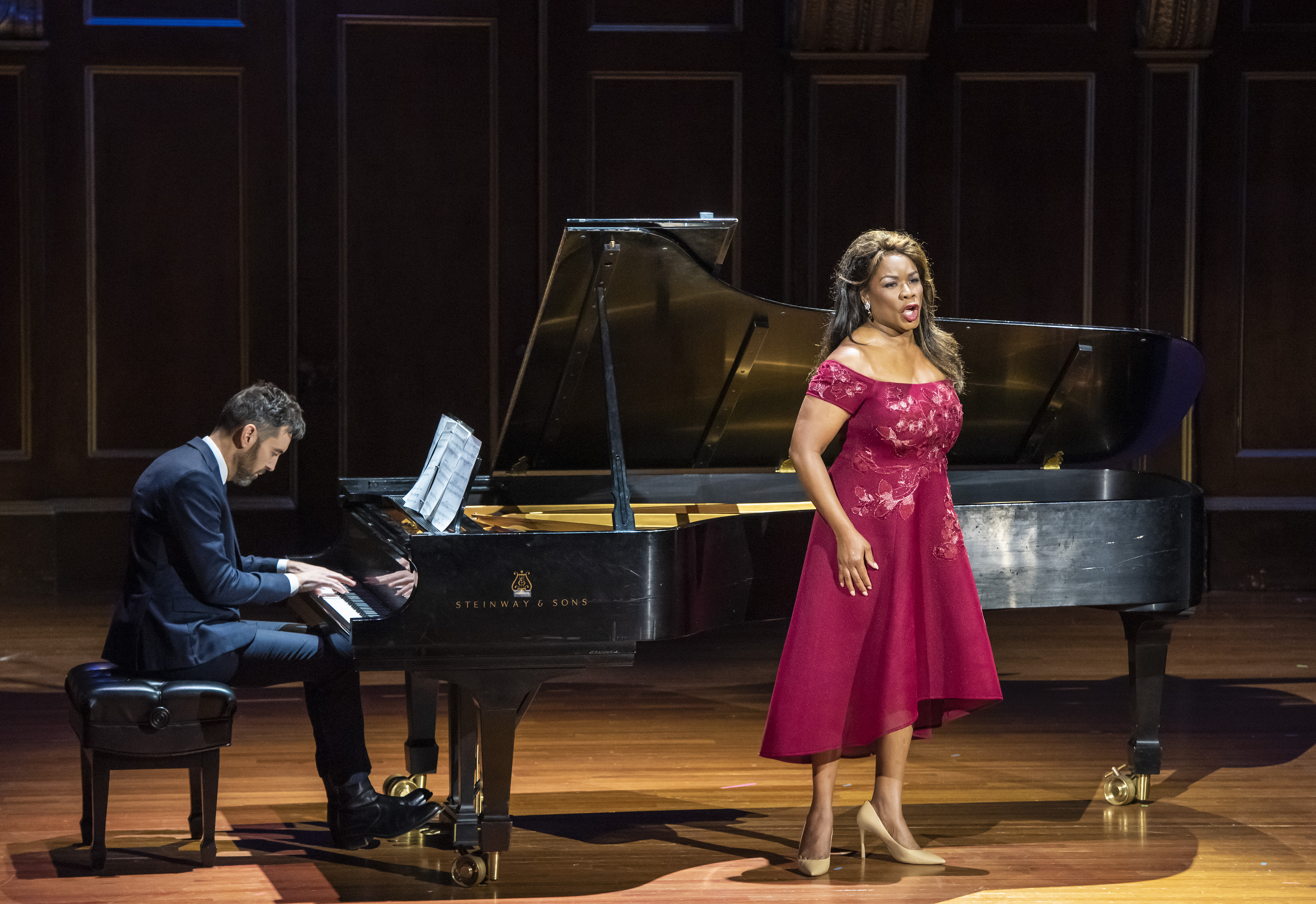 Denyce Graves sings with collaborative pianist Cameron Stowe
