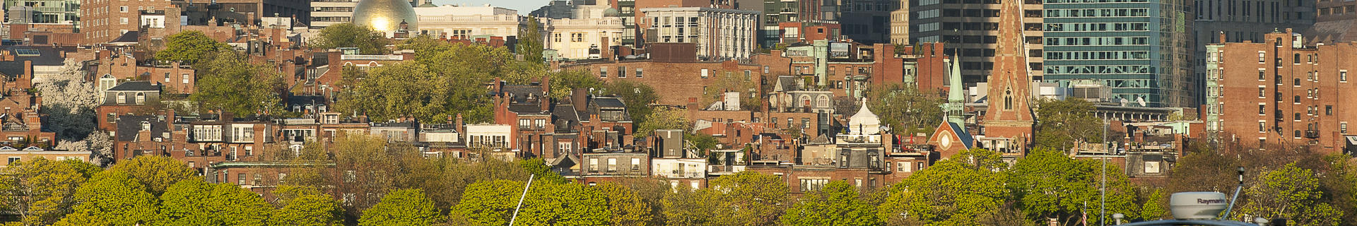 A panorama of Boston's Back Bay