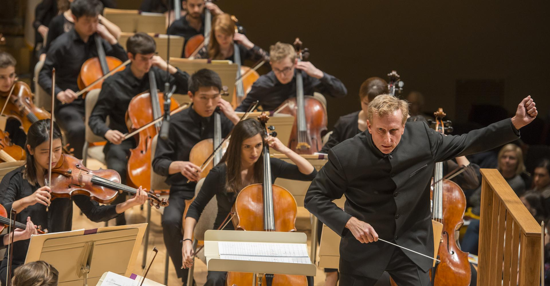 Hugh Wolff conducts the NEC Philharmonia