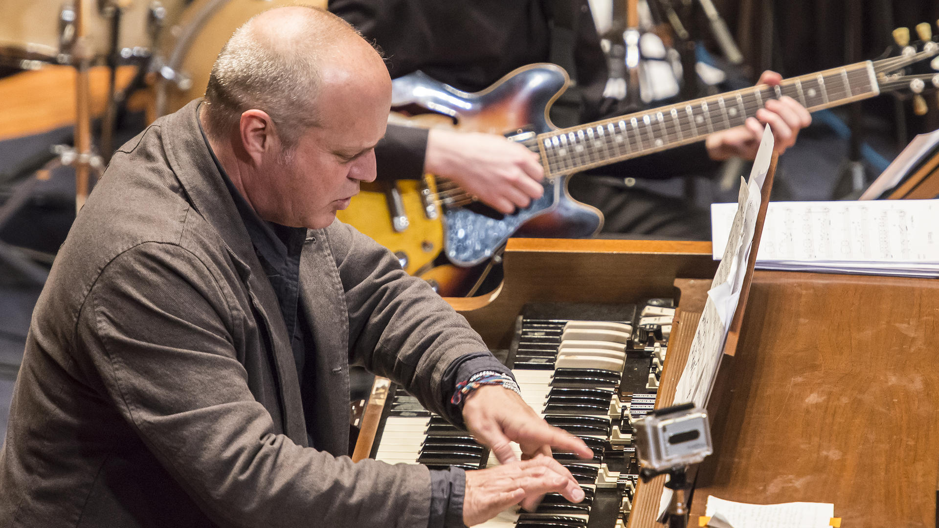 John Medeski performs with the NEC Jazz Orchestra