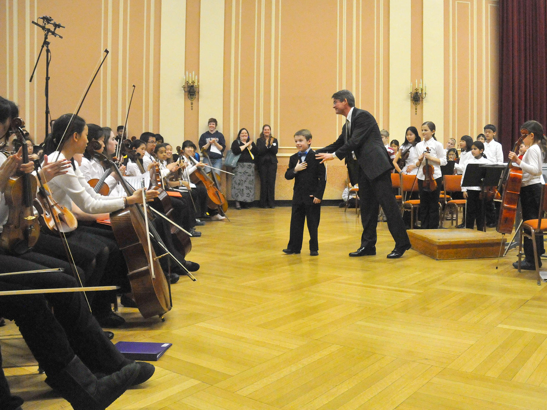 A Prep student composer takes a bow