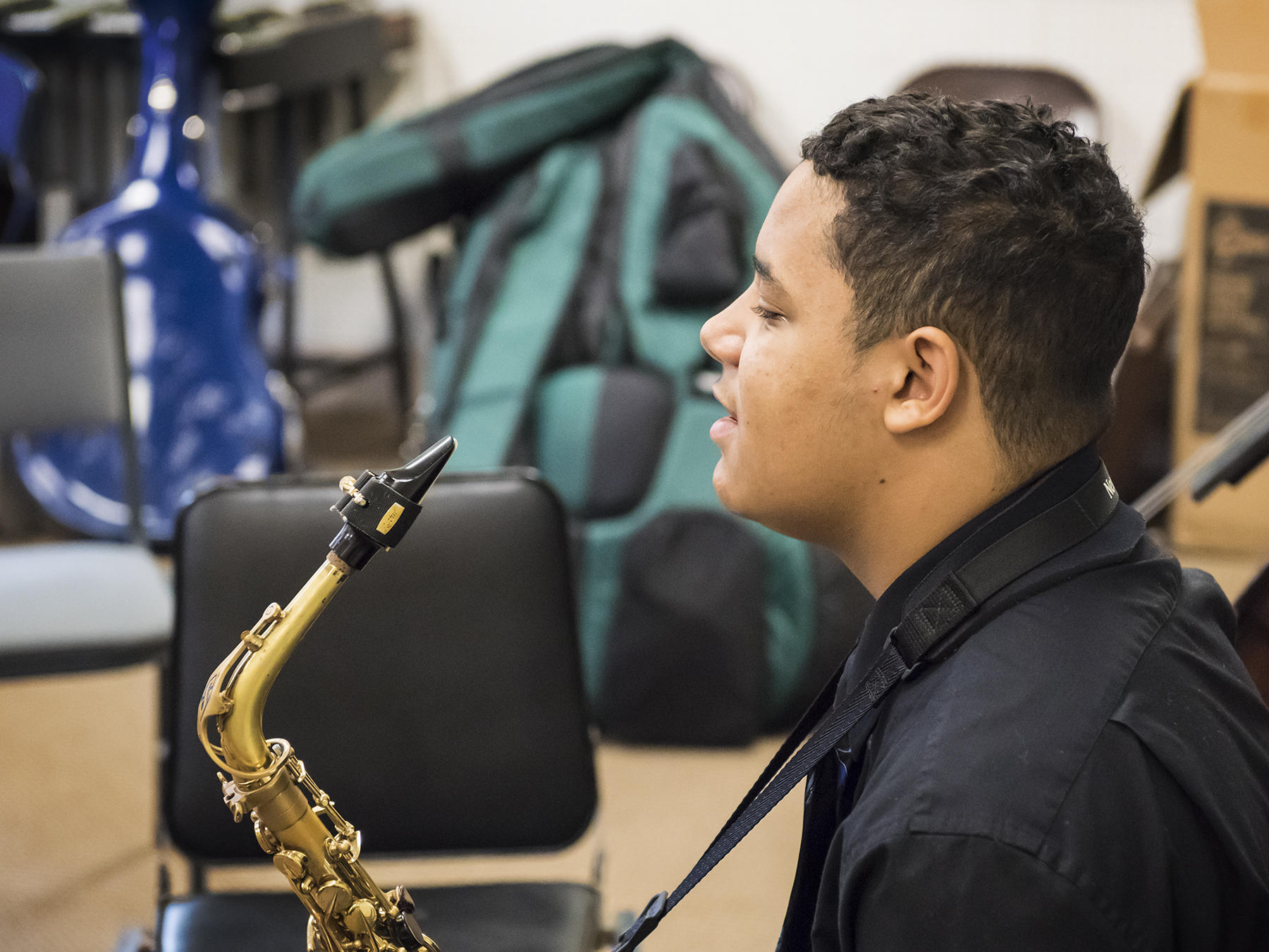A Prep Jazz sax player