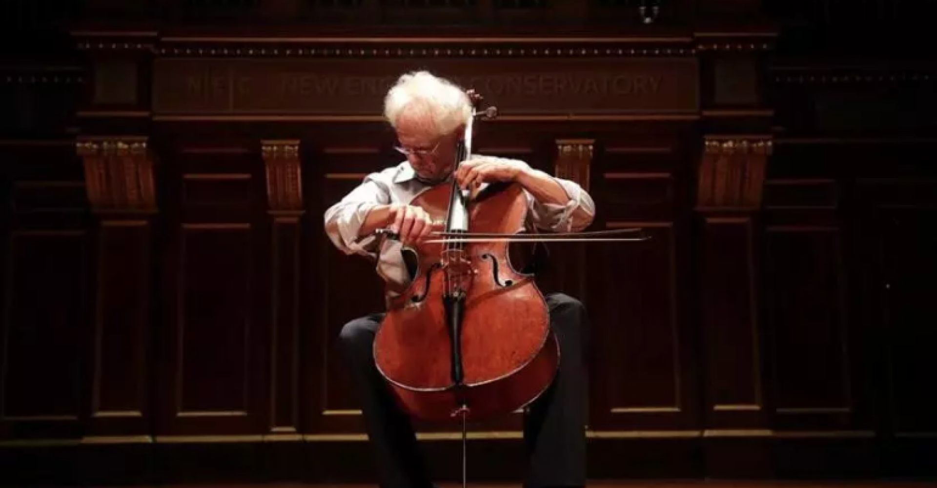 laurence lesser playing cello in jordan hall