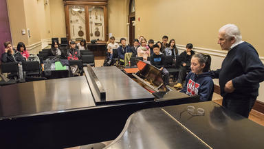 Prep Piano Class in the Keller Room