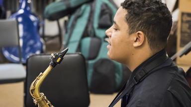 A Prep Jazz sax player