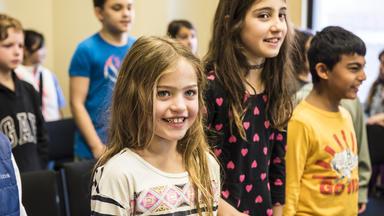 Children's Chorus members rehearse