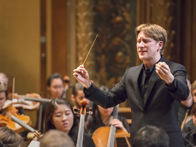 Joshua Weilerstein conducts the N E C Philharmonia