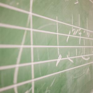Music in chalk upon a blackboard