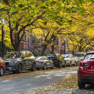 Autumn street scene in Boston's South End