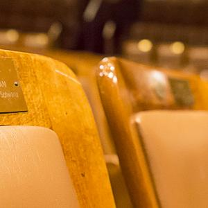 Abstract of seats in Jordan Hall
