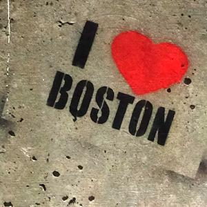I heart Boston stencil