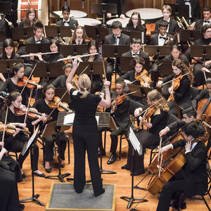 The N E C Prep Youth Repertory Orchestra performs