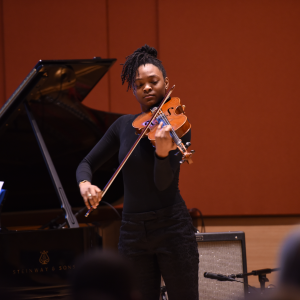 Mira Williams playing the viola