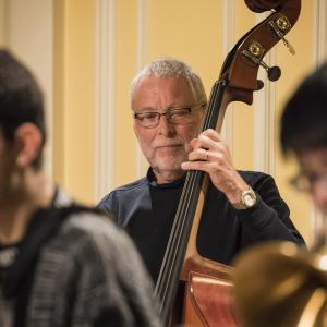 Dave Holland with a student ensemble