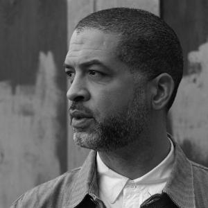 Jason Moran in black and white photo